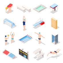 Sport Swimming Pool Isometric ...