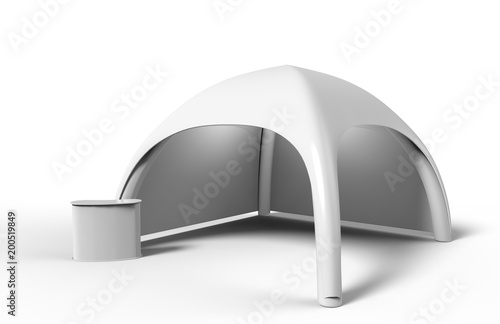 Fotografía Pop Up Dome Spider Inflatable Advertising Arch White Blank Tent