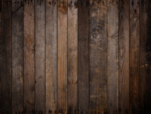 Dark Rustic Wooden Planks Back...
