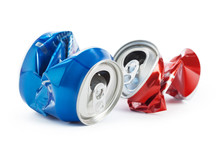 Compressed Cans Isolated On A ...