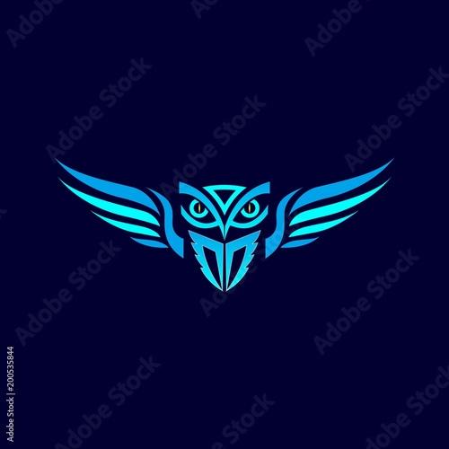 Canvas Prints Owls cartoon owl logo design for emblem and symbol