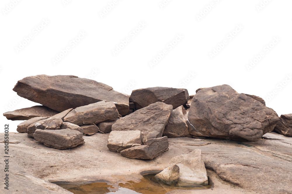 Fototapety, obrazy: rock isolated on white background