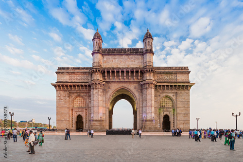Stickers pour portes Lieu connus d Asie Gateway of India