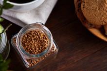 Open Jar Of Instant Coffee Arr...