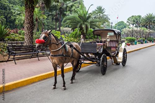 Fotografía  Carriage in Intramuros