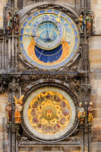 Astrogolic clock at the Town Hall in Prague Wallpaper Mural
