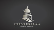 Congress Silver Capitol Icon. ...