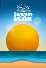 Summer Solstice Season Beach S...