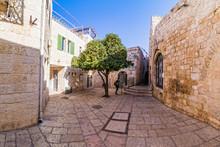 Street Life On The Streets Of Jerusalem.
