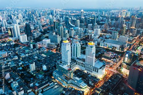 Bangkok aerial view Canvas Print