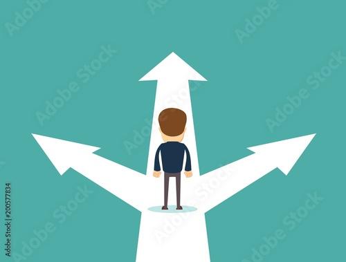 Fotografie, Obraz  Business decision concept vector illustration