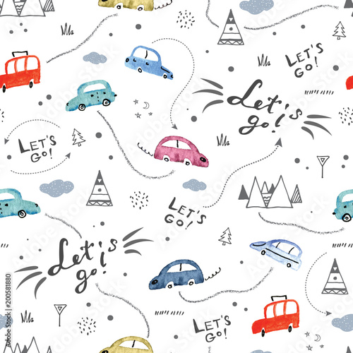 seamless-pattern-with-small-cars-and-road-signs-on-white-background