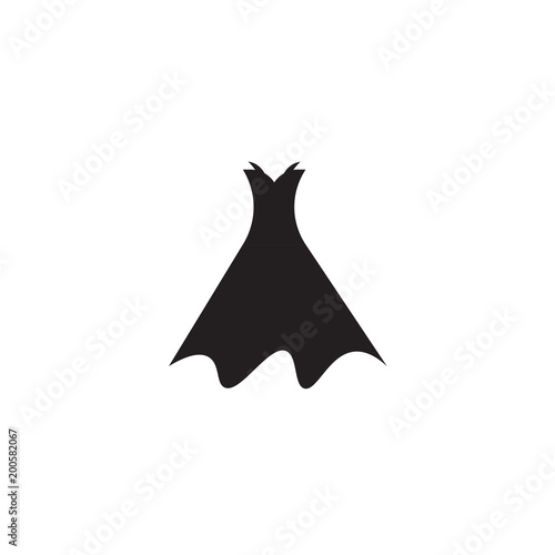 Fototapeta  Strapless dress with belt and petticoat iconisolated on white background