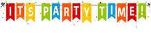 Its Party Time Banner - Editierbare Vektor Illustration