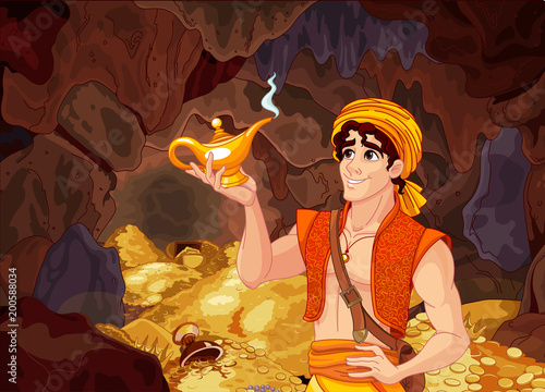 Keuken foto achterwand Sprookjeswereld Aladdin and the Wonderful Lamp
