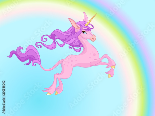 Poster Sprookjeswereld Magic Unicorn