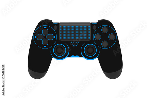 Game controller isolated on a white background Tableau sur Toile