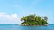 Leinwandbild Motiv small tropical island with sky and clouds in summer season,phuket thailand