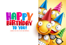 Smileys Birthday Vector Greeti...