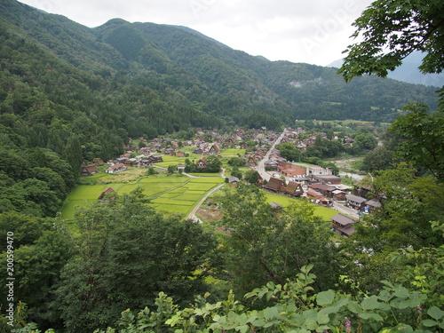 Foto auf Gartenposter Reisfelder 飛騨高山