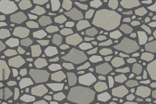 Szara kamienna ściana tekstur. Bezszwowe tło wektor.