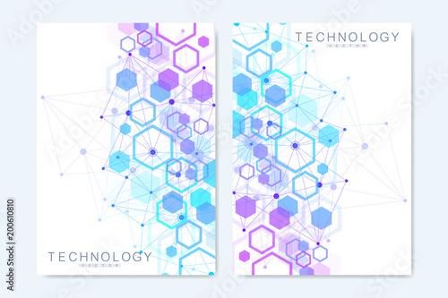 Fotografía  Modern vector templates for brochure, cover, flyer, annual report, leaflet