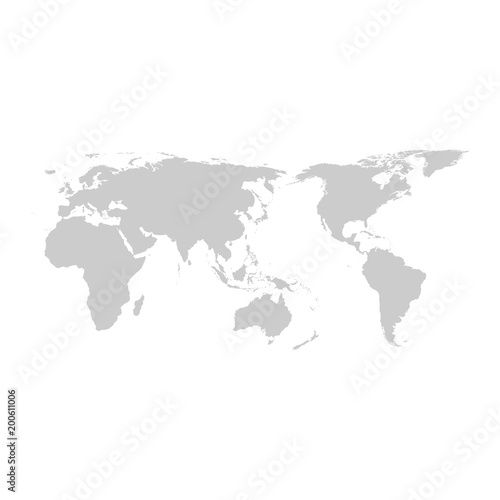 Grey world map vector flat design buy this stock vector and grey world map vector flat design gumiabroncs Gallery
