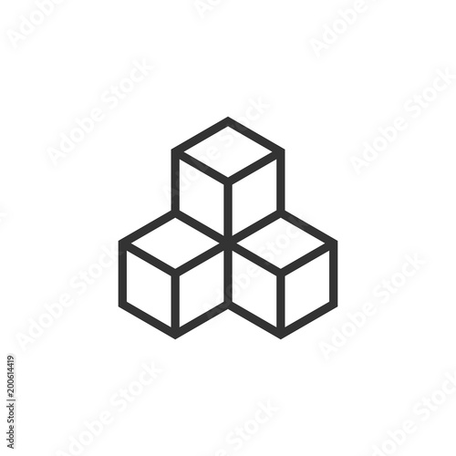 Photo  Blockchain technology vector icon in flat style