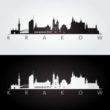Krakow Skyline And Landmarks S...