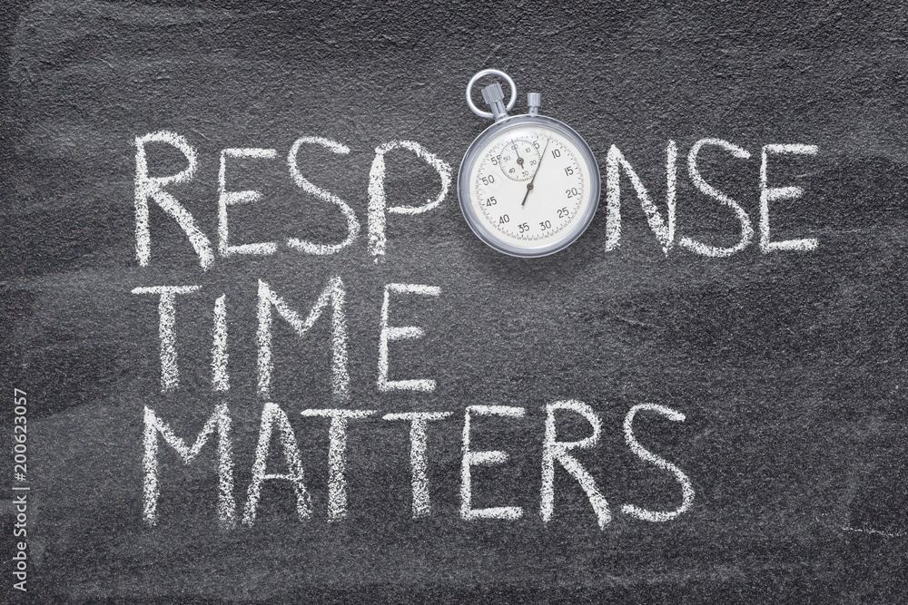 Fotografie, Obraz  response time matters watch
