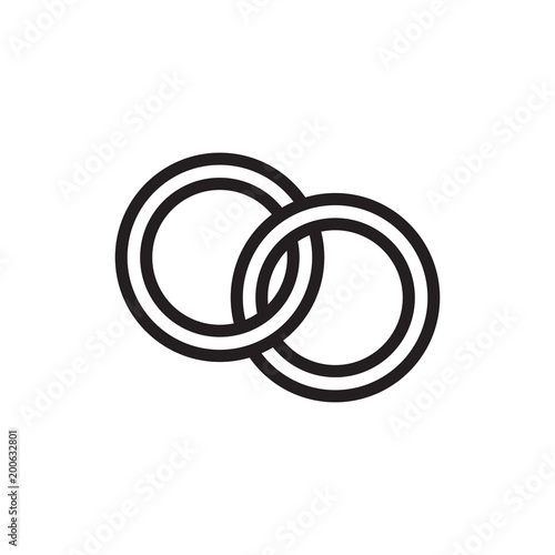 Wedding Rings Outline Vector Icon Buy This Stock Vector And