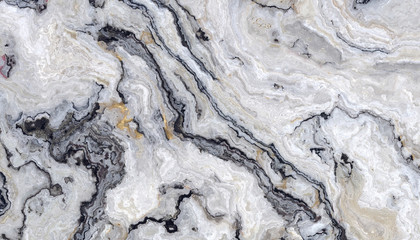 Panel Szklany Industrialny White curly marble