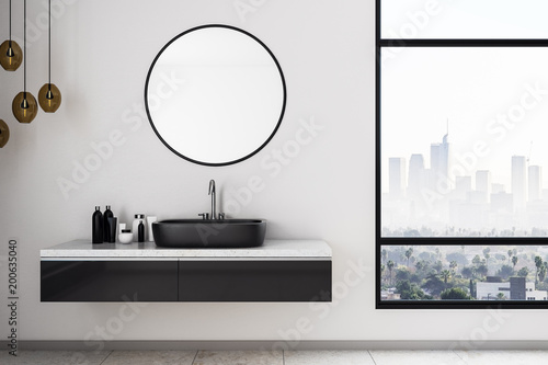 Obraz White bathroom interior - fototapety do salonu