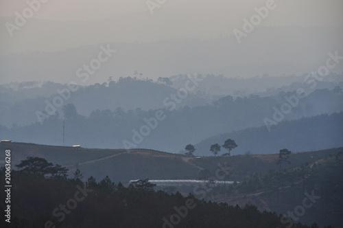 Fotobehang Grijs Mountain scenery of Dalat, Vietnam