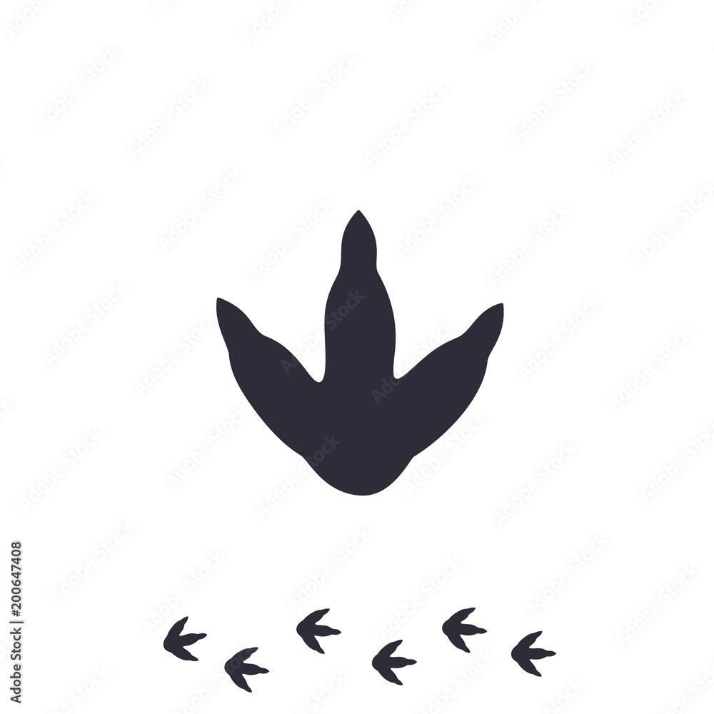 dinosaur footprint vector icon on white <span>plik: #200647408 | autor: nexusby</span>