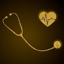 Golden Glittering Stethoscope ...