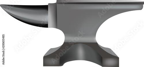 Fototapeta grande incudine d'acciaio per fabbro