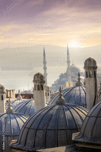 Nice view in the city of Istanbul in Turkey Canvas Print