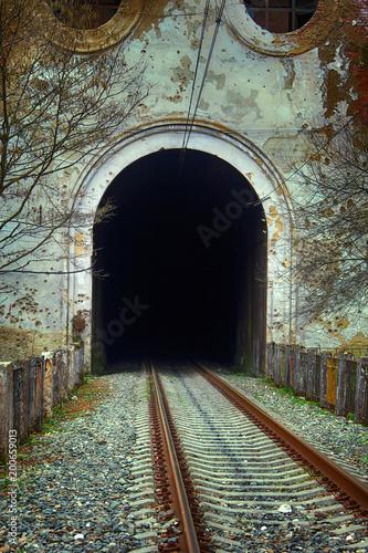 Fotografia, Obraz  Railway tunnel culvert in the mountains