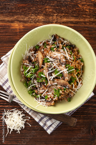 Fresh buckwheat risotto.