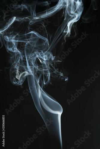 siyah fonda tütsü dumanı Wallpaper Mural