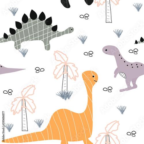 smieszne-dinozaury-na-bialym-tle