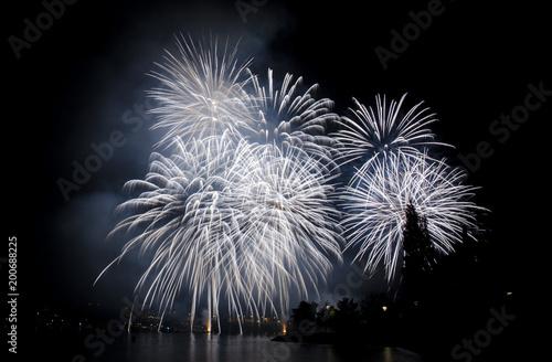 Fotografie, Obraz  Lago e Fuochi d'artificio