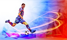Soccer Player  The Background ...