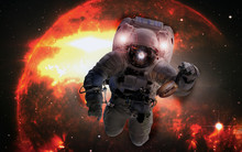 Astronaut In Outer Space With ...