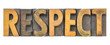 canvas print picture - respect - isolated word in wood type
