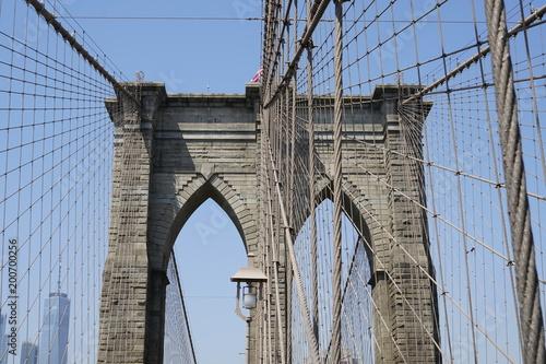 Foto op Canvas Brooklyn Bridge City skyline - America