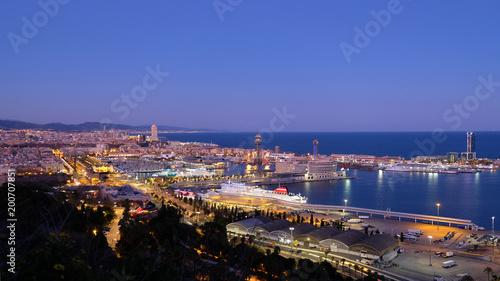Port W Barcelonie, Barcelona, Hiszpania