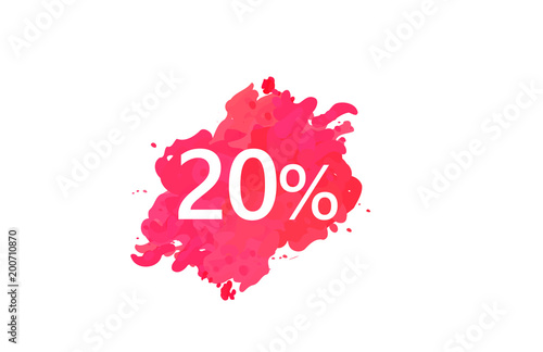 Fotografía  20 Percent Discount Water Color Design