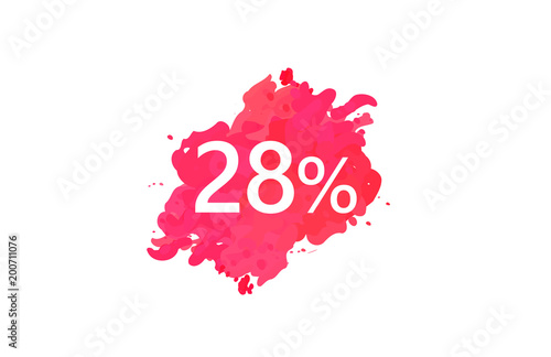 Poster  28 Percent Discount Water Color Design